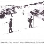Mailman Donald Gow (Jnr) leaving St Bernard's Hospice for the Dargo River  (EC)