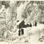 Mt. St. Bernard Hospice Under Snow