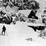 Skier and dog Mt. St. Bernard 1927